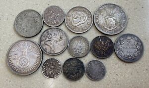 Lot Of 12 Various World Silver Coins