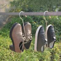 Hanging Shoes Rack Outside Sun Drying Slipper Storage Hanger Metal Holder G6A
