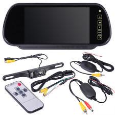 "7"" TFT LCD Monitor Night Vision Reverse Camera Mirror Wireless Car Rear View Kit"