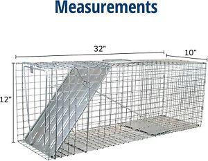 Havahart 1079 Large 1-Door Humane Animal Trap for Raccoons, Cats, Groundhogs, Op
