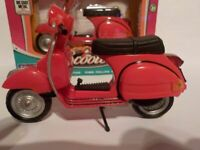 Vespa - Red  1/18 Model Scooter, Bike, Moped, PX125 Toyway