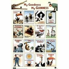 GUINNESS BEER - VINTAGE ADVERTISING COLLAGE POSTER 24x36 - DRINKING 49130