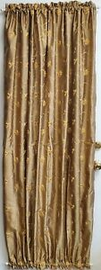 """French Door curtain Olive embroidered 54"""" wide 72"""" length sash Free shipping"""