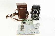 Rollei Rolleicord V TLR Camera SN 1545796 Xenar f3.5 75 mm Lens Cover and Case