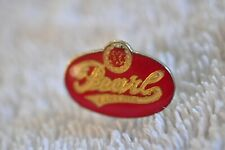 Vintage 1970's Pearl Beer Collectors Oval Pin Bright Red!