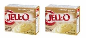 Jell-O Coconut Cream Instant Pudding Dessert Mix 2 Box Pack