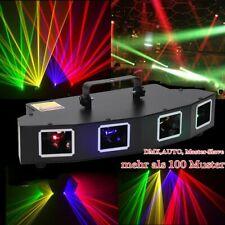 RGBY Lichteffekt Laser Beam DJ Projektor DMX Bühnenbeleuchtung Disco Show IIIB