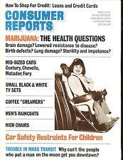 Consumer Reports Magazine March 1975 Child Car Seats VGEX No ML 020117jhe