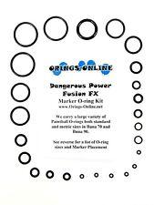 Dangerous Power DP Fusion FX Paintball Marker O-ring Oring Kit x 4 rebuilds kits