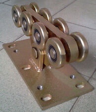 Galvanized Heavy Duty M Wheel Rolling Gates Sliding Cantilever Gate Roller 8L-B