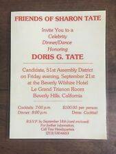 """""""Friends of Sharon Tate"""" - Beverly Hills, Ca. laminated campaign invitation card"""