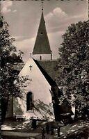 Lage in Lippe alte Ansichtskarte 1961 Partie an der Markt Kirche Personen Bäume