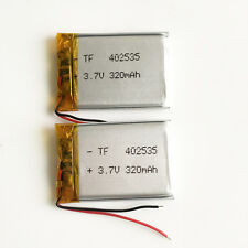2 pcs 320mAh Li Po Polymer 3.7V Battery For MP3 MID Bluetooth GPS DVD PSP 402535