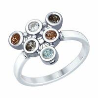 Ring Silber 925 Swarovski Kristalle Zirkonia Damenschmuck Sokolov Neu