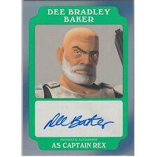 Topps Star Wars Rogue One Green Autograph Dee Bradley Baker as Captain Rex