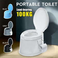 Portable Toilet Seat Flush Camping Travel Hiking Indoor Outdoor Potty Commode