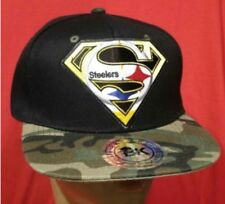 Pittsburgh Steelers Baseball Cap Black with Camo Flat Bill Snapback Hat