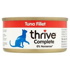 thrive Wet Cat Food Tuna Fillet 100% Natural Complete Tin, Real Fish Broth - 75g