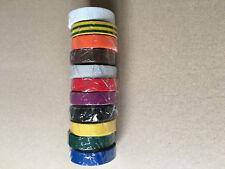 Hellermann tyton ruban adhésif pvc isolant électrique 15mmX10m  11 couleurs