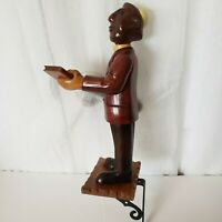 Vintage Wood Hand Carved Rabbi Figure Wall Mount Rabbi Religious Figure Carved