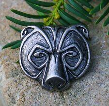 Bear TIN PENDANT Grizzly Necklace Jewelry Jewellery Bears Animal Pagan Pewter