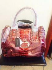 AUTHENTIC GUESS satchel bag handbag NEW with tag Ruby Color