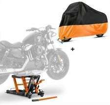 Hebebühne LO + Abdeckplane XL für Harley Davidson Sportster 883 / Custom