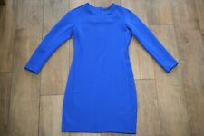 ZARA scuba bodycon dress SIZE L 12 14 stretch cobalt party occasion WORN TWICE!