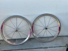Campagnolo Shamal 650c Tubular Wheels 12 spoke HPW titanium hubs, 2 new tires