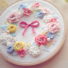 DIY Embroidery Kits Hoop Art at Home Delicate Wedding Party Bouquet