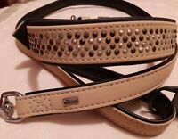 HUNTER Softie Rock Art-Nubuk Collar 55 cm 65 CM XLarge TAN ON Black & LEAD SET