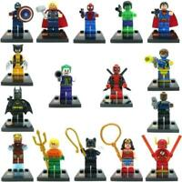 16 x FULL SET 2020 MINI FIGURES MINIFIGS FIT LEGO MARVEL DC SUPER HEROES TOY UK