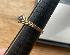 9ct Yellow Gold Emerald and Diamond Ring, fully hallmarked & dated 1978 Cracker!