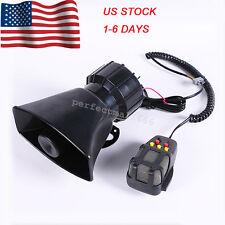 12V Car Motorcycle Alarm Warning Siren Horn Megaphone 6 Tone Loud Speaker MIC