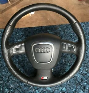 GENUINE 2010 AUDI A3 S LINE 8P FACELIFT MULTI FUNCTION LEATHER STEERING WHEEL