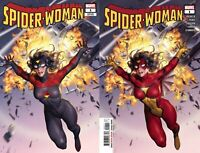 Spider-Woman #1 2 Variant Bundle Yoon Classic & New Costume Cover (Marvel 2020)