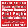 MANCHESTER UNITED PERSONALISED BIRTHDAY CARD - TYPOGRAPHY