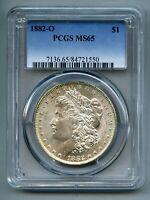1882 O Morgan Silver Dollar PCGS MS 65