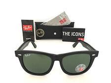 Ray Ban POLARIZED Sunglasses RB2140 901/58 54mm Black Frame Classic Wayfarer