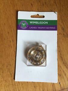 WIMBLEDON LADIES TENNIS TROPHY OFFICIAL KEYRING RARE ON CARD