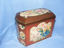 Advertising Tin Crawfords Oriental Bird Flowers Biscuit George VI Kitchenalia