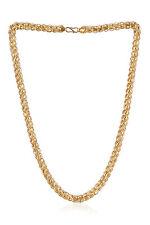 "Unisex Dubai Lotus Chain Necklace In Solid Hallmark 22Karat Fine Yellow Gold 20"""