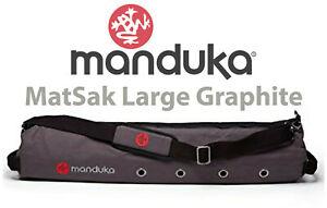 Manduka Matsak | Large Yoga Mat Bag | Yoga Bag | Cotton Canvas Vented Mat Bag