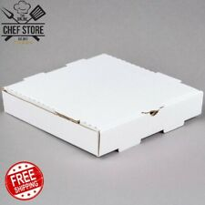 "10"" x 10"" x 1 3/4"" White Corrugated Plain Pizza Bakery Box 50 Bundle Square"