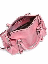 NWT Miu Miu Vitello Lux Mini Bow Satchel Handbag Blush Pink -100% AUTHENTIC