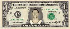 Klay Thompson Golden State Warriors 2015 MVP Lucky Novelty Dollar Bill Splash
