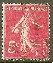 "FRANCE TIMBRE STAMP N°278B ""TYPE SEMEUSE FOND PLEIN, 5 C"" OBLITERE TB"