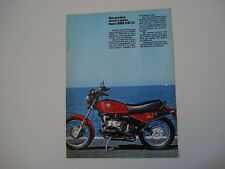 advertising Pubblicità 1983 MOTO BMW R80 R 80 ST