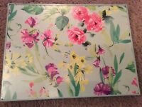 BNIB Laura Ashley Home Set 4 Watercolour Floral Rectangular Corkback Tablemats