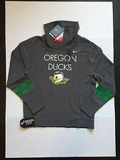 Nike Dri-Fit Oregon Ducks Sweatshirt Jacket Dark Grey Heather Women's Size S